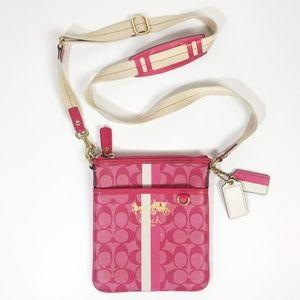 COACH Chelsea Heritage Pink Swingpack Crossbody